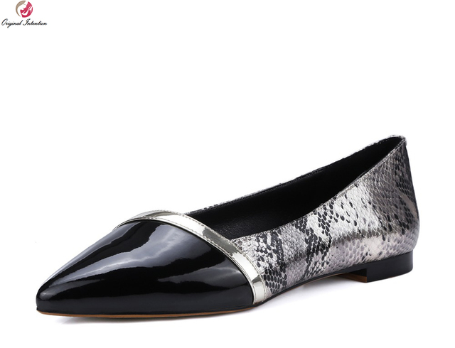 Original Intention New High-quality 2017 Women Flats Sexy Pointed Toe Flats  Fashion Black   bcd401faa383