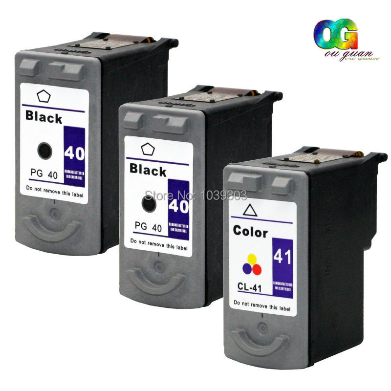 3 Pack Compatible Chipped PG-40 CL-41 PG40 CL41 Ink Cartridge for CANON PIXMA MP150 MP170 MP180 MP210 MP450 iP1600 iP1800 iP6220 3x remanufactured ink cartridge pg40 cl41 pg 40 cl 41 for canon pixma ip1700 ip1800 ip1900 mp470 mp450 inkjet printer