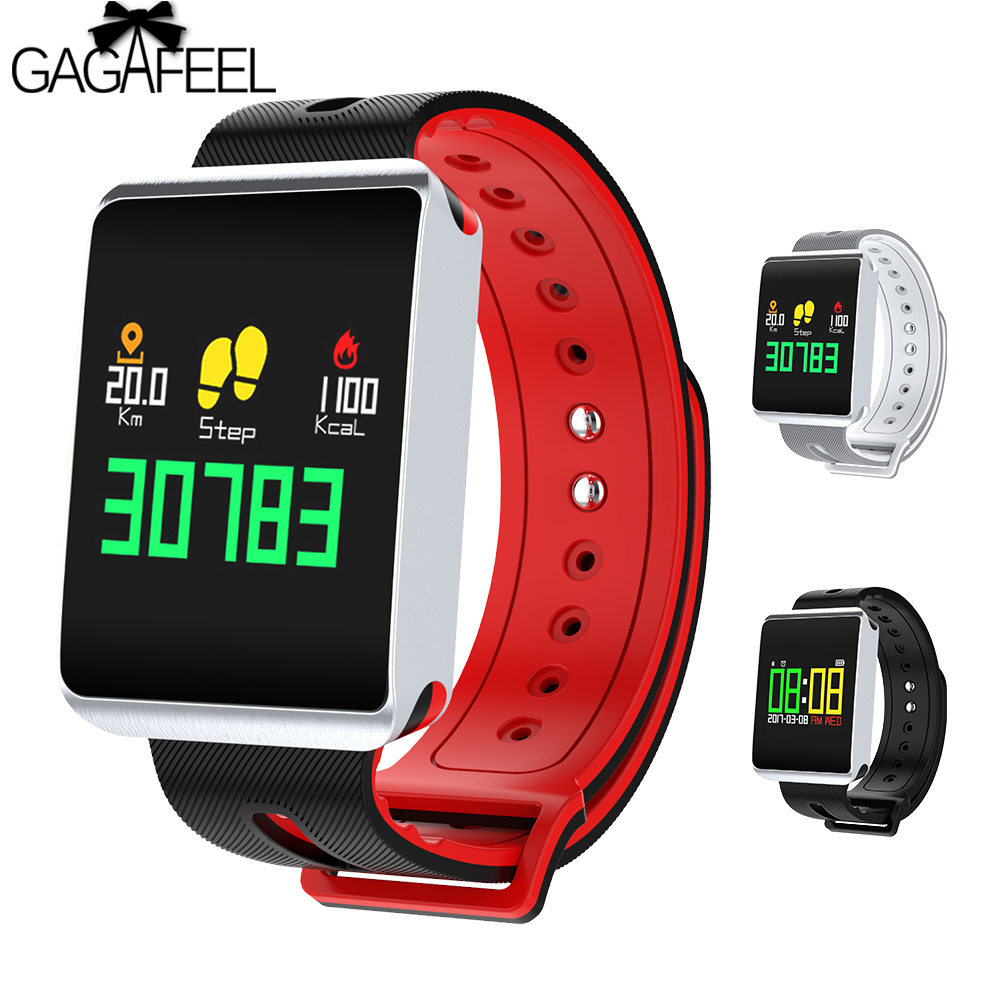 TF1 Smart Uhr IP68 Wasserdichte Bluetooth 4,0 Smartwatch Herz Rate tracker Blutdruck Sauerstoff Männer Armbanduhr für iOS Android