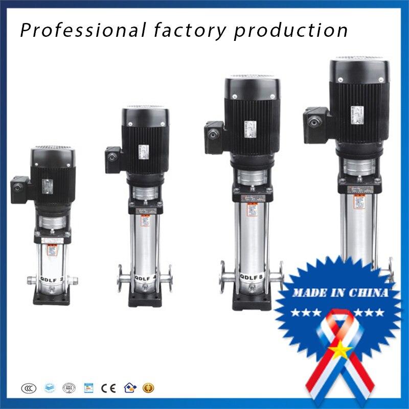 Pompe centrifuge verticale à plusieurs étages de pompe de propulseur d'acier inoxydable de CDLF3-11 pompe à haute pression 380 V