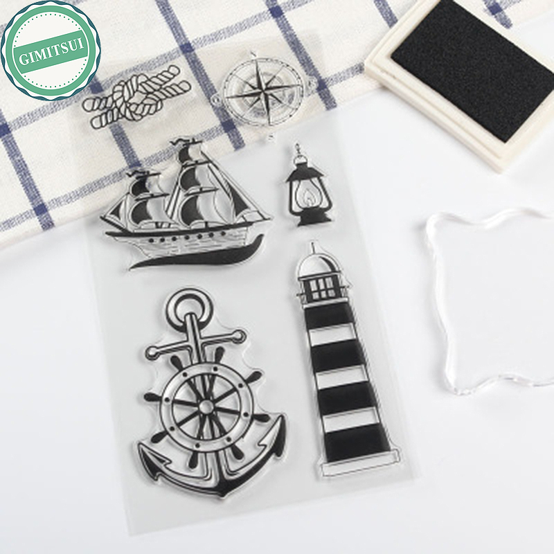 GIMITSUI Store New Clear Stamps for DIY Card Making Sea House