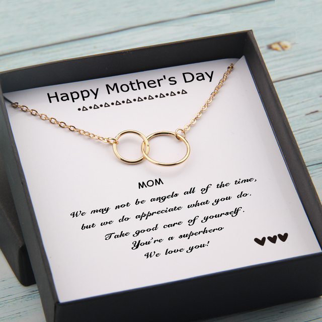 Circles Necklace  Happy Mother's Day Gifts Card  5