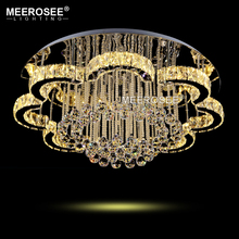 Modern Crystal LED Ceiling light Fixture For Indoor Lamp lamparas de techo Surface Mounting Ceiling Lamp For Bedroom Dining Room surface mount led ceiling lights for living room bedroom indoor home fixture square wooden ceiling lamp de techo plafond abajur