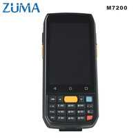 ZUMA 1D 2D CPU 4X1.3GHz 5000mA battery capacity multitouch screen OS Android Barcode QR code Scanner handheld data terminal 7200
