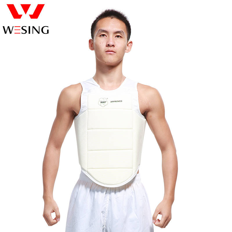 WKF chest guard men karate chest protector karate body shield 1 piecenew muay thai kick boxing training shield curve pads punch mma chest target taekwondo karate sanda chest protector target