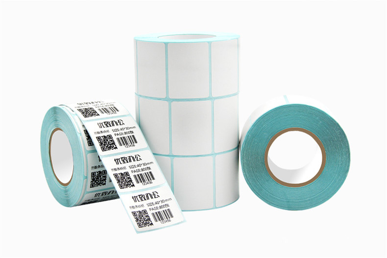 2016 new 1roll Thermal sticker paper40*30*800sheets waterproof barcode printing paper paper bar code label printing paper 2016 new cash register paper 57 50 thermal paper pos machine printing paper 58mm small ticket paper roll 24 volumes