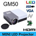 Portable Mini Led Digital Projector 80Lumens Projection Distance 1-3.8M USB SD VGA HDMI AV Micro Home Theater Cinema Projektor