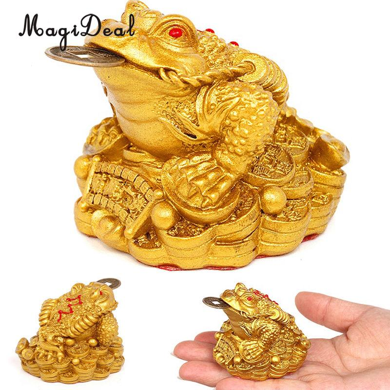 MagiDeal China Traditional Feng Shui Money Lucky Fortune Oriental Chinese Wealth Frog Toad Coin Decor--Great Gift