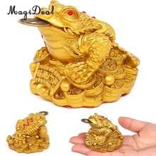 MagiDeal – décoration traditionnelle chinoise Feng Shui, porte-bonheur, richesse orientale chinoise, grenouille, crapaud, cadeau idéal