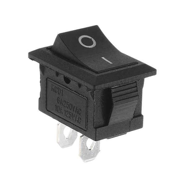 10pcs Rocker Switchs Copper Boat Rocker Switch 2-Pin Plastic Button ON/Off SPST