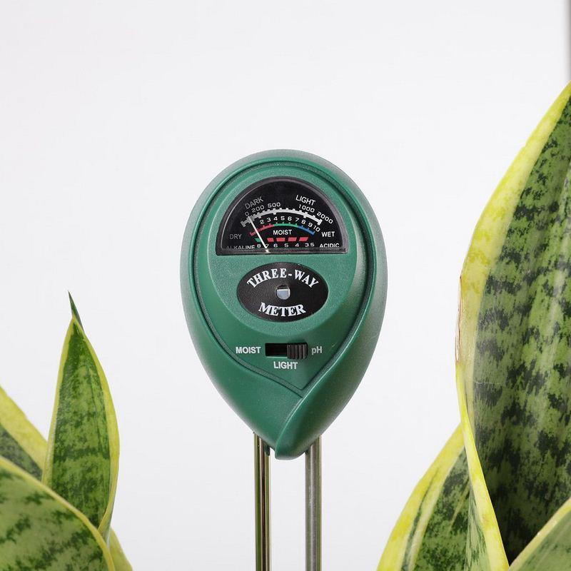 3 In 1 Digital Boden Feuchtigkeit Meter Analyse Ph Tester Garten Detector Hygrometer Licht Detektor Säure Ph Feuchtigkeit Meter Durchblutung Aktivieren Und Sehnen Und Knochen StäRken
