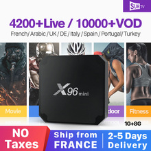 купить X96mini Android 7.1 IPTV France Box X96 mini Smart Set Top Box S905W IPTV 1 Year Subscription Europe Belgium French Arabic IP TV по цене 4808.48 рублей