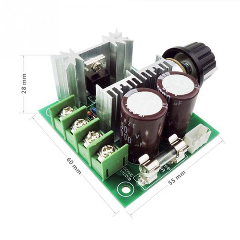 DC 12V~40V 10A 13kHz PWM Motor Speed Control Switch Controller Volt Regulator Dimmer Electrical PCBA Assembly DC Motor Boards