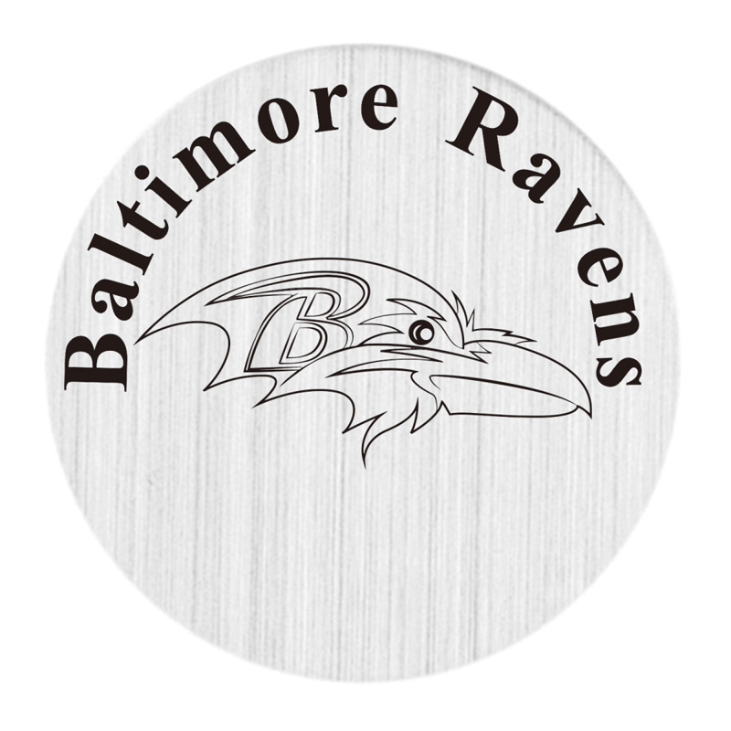 Baltimore Ravens 22mm Stainless Steel Floating Locket Plate USA Floating Charms Fit 30mm Living Glass Lockets 20pcs/lot