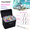 TOUCHNEW Marker 168 Colors Set Professional Art Markers Set Double Headed Alcohol Based Markers Art For