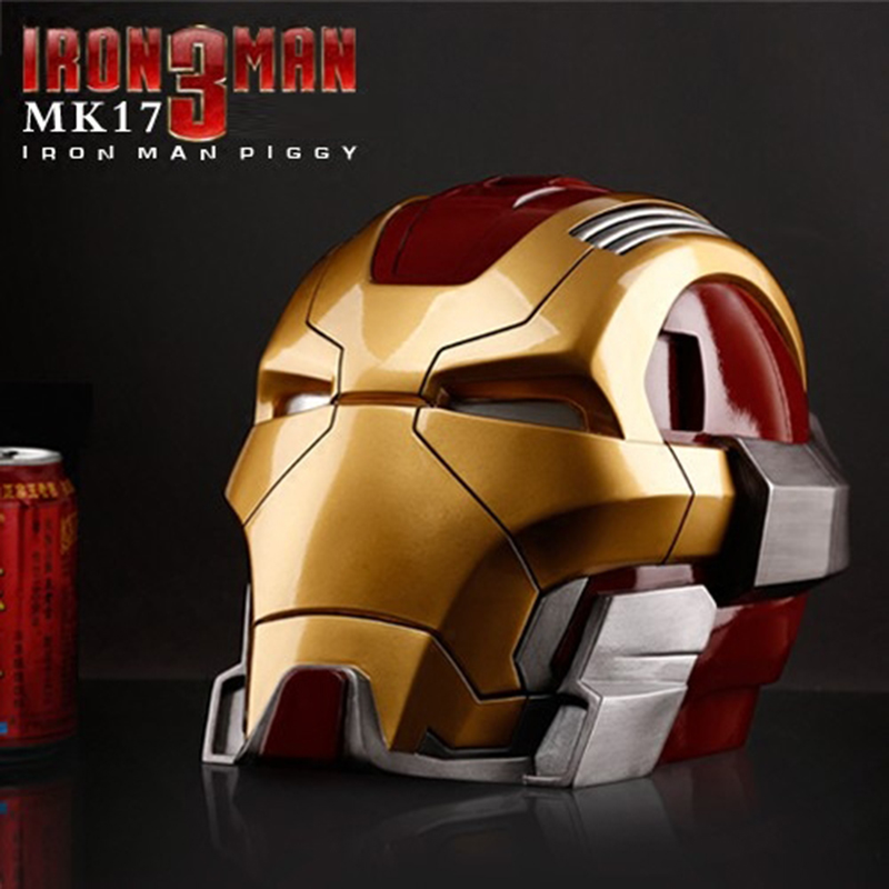 Grande taille Avengers 3 fer homme Statue tirelire Tony Stark résine Art artisanat décorations Action Figure Collection modèle économie de pièces