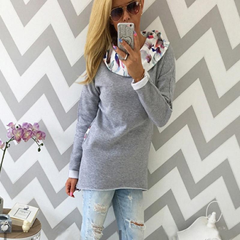 Women Hoodies Sweatshirt Long Sleeve Women Sweatshirt Female Mujer LJ5317M