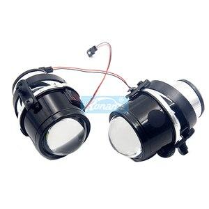Image 4 - Ronan 2pcs H11 Metal holder use H8 H9 HID Bulbs 2.5Bi Xenon Fog Light Projector Lens Car Styling for CX5 CX7 MX5 DIY retrofit