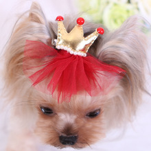 Colorful Dog Crown / Hair Bow