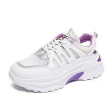 Platform Sneaker Comfortable Flat Shoes Casual Women Fashion Sneakers Breathable White C