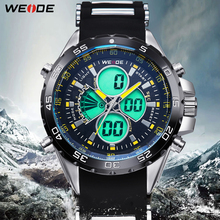 WEIDE Men Watches Men Quartz Full Steel Army Men's Military Sports Watch Silicone Strap Luxury Brand LCD Back Light Wristwatch weide clock luxury quartz watches men white sports electronic watch leather strap watchbands mehanical hand wind water resistant