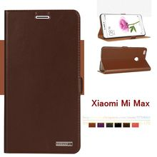 Top Quality Natural Genuine Leather Magnet Stand Card Flip Cover Case For Xiaomi Mi Max Mmax (6.44″) Luxury Mobile Phone Bags