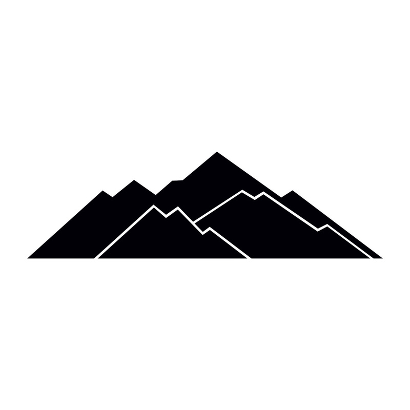22.7*6.9CM Personality Distant Mountain Car Stickers Simple Car Styling Vinyl Decals Black/Silver C7-1672