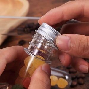Image 5 - 50 stücke 30ml Ausgezeichnete Kunststoff Transparent Test Rohre Mit Aluminium Kappe Flaschen 25x140mm Schule Liefert Labor ausrüstungen