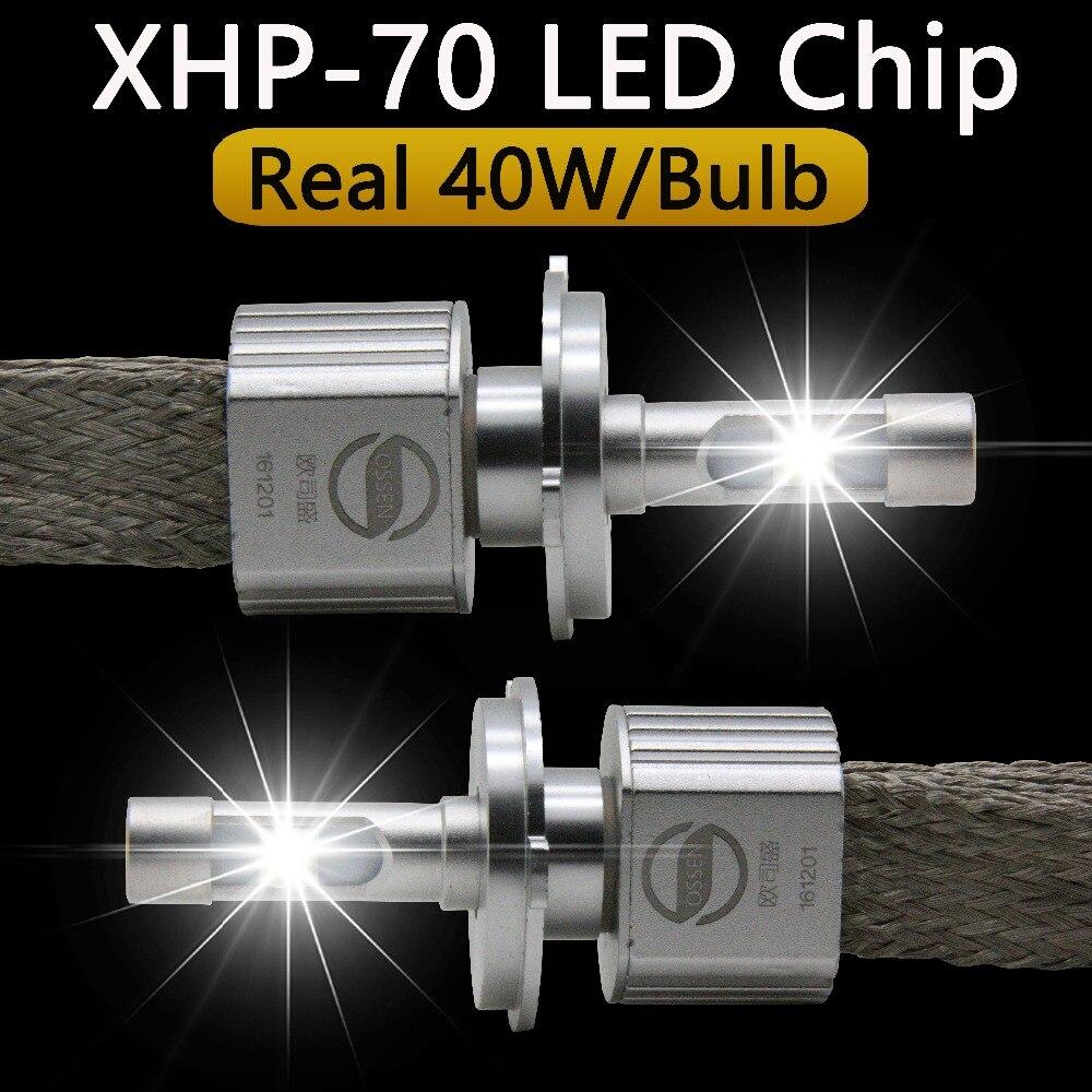 P70 <font><b>XHP70</b></font> Car <font><b>LED</b></font> Headlight H4 Hi Lo 55W XHP-70 chips 6600LM H4-3 High Low Beam Motorcycle Headlights Bulb H7 H11 9005 9006 9012