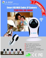 Z BEN Wifi IP Camera P2P IR LED Night Vision HD1080P Audio Video Alarm Smart Home Baby Monitor Surveillnace Safety Fisheye Lens