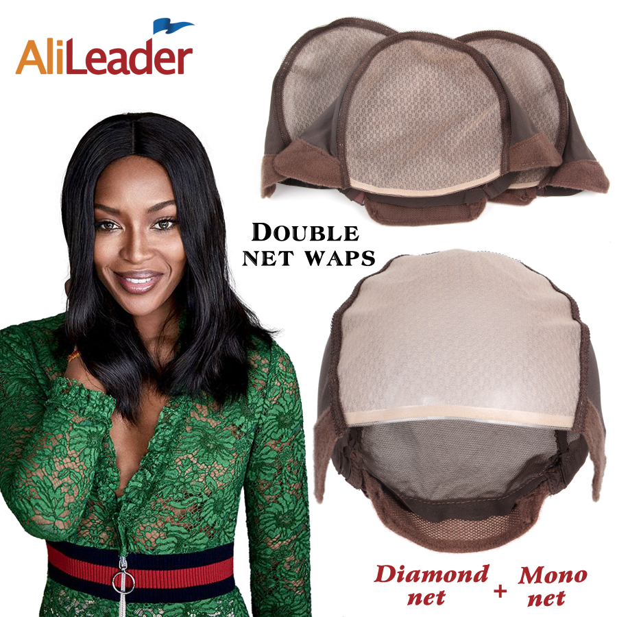In Fast Deliver Alileaser Hot Quantity Mono Weave Cap For Making Wig Cap Swiss Lace For Wig Making U Part Wig Invisible Hair Nets 3pcs/lot Superior Quality