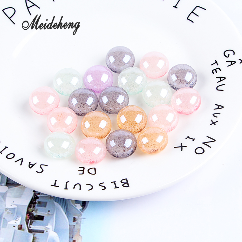 Acrylic Transparent Snow Bubble bead Single hole UV Multicolor Hair ornament jewelry accessories handmade materials gifts