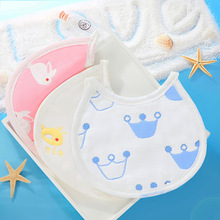 New Original Baby 6-layer Cotton Gauze Round Edge Saliva Towel Bib 17*19cm Limited Time Special Offer