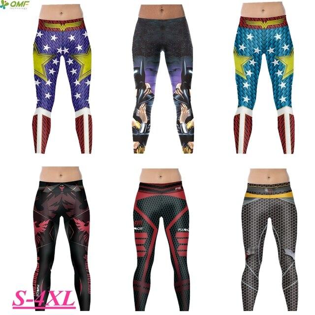 c446b07fee5795 Batman Wonder Woman Running Skinny Tights Justice League Sports Yoga  Trousers Slim Fit Skinny Batman V Superman Leggings Women's