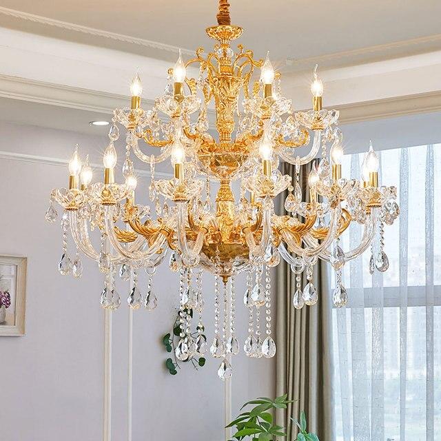 Modern Crystal Chandeliers Home Lighting lustres de cristal Decoration Luxury Candle Chandelier Pendants Living Room lampadario