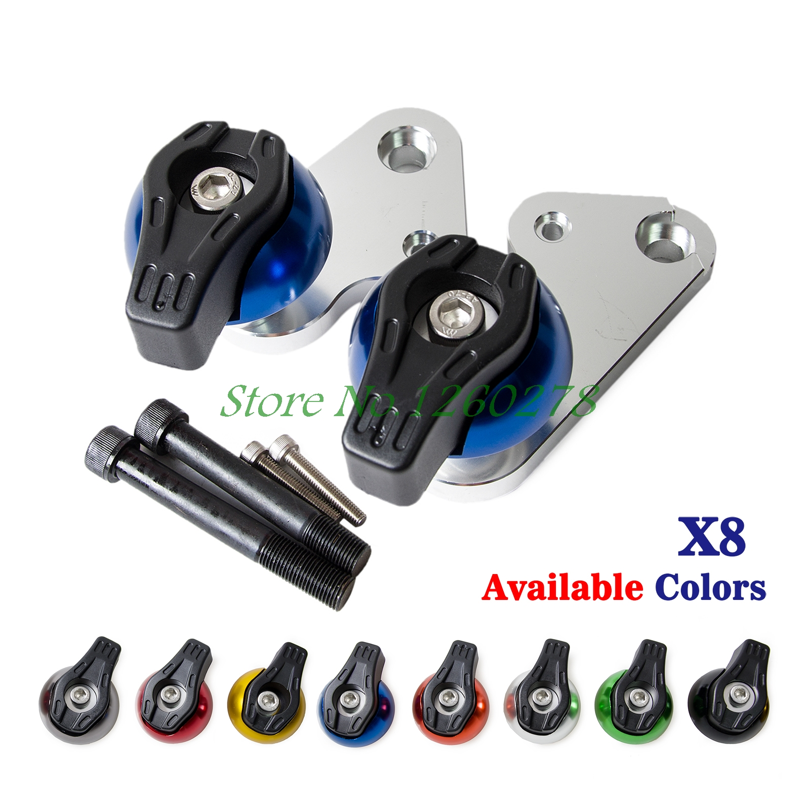 Motorcycle CNC Aluminium Frame Sliders Crash Pads Protector For Yamaha  YZF R1  2009 2010 2011 2012 motorcycle aluminium frame sliders crash pads protector for suzuki gsxr600 gsxr750 2006 2007 2009 2009 2010 2011 2012
