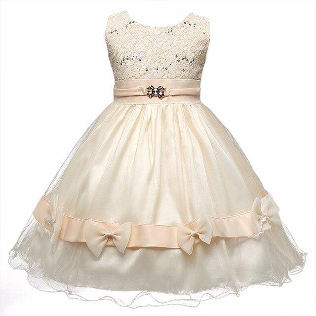 low priced 882e4 b2f3a US $13.66 |La Bambina Abiti Da Damigella di Nozze con L'arco abito Crochet  per bambini di fantasia Formale Pageant Prom Outfit Abbigliamento in La ...