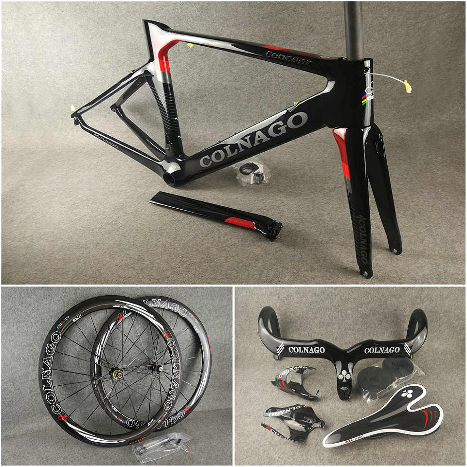 New 2020 Colnago Carbon Water Bottle Cage Holder in Gloss Black /& Silver