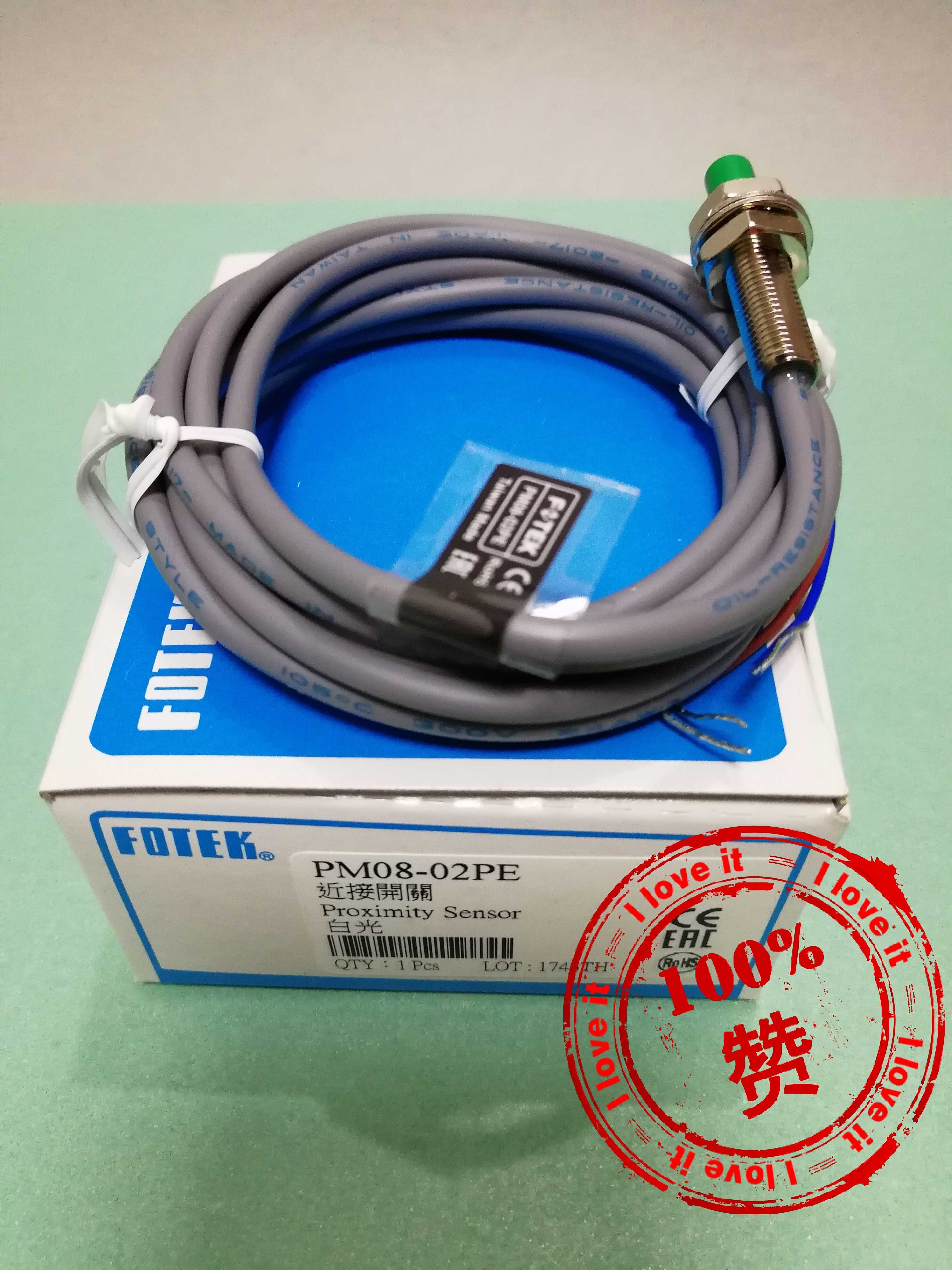 100% New Original Inductance Proximity Switch PM08-02PE Fake Penalty 10