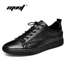 Купить с кэшбэком Handmade Genuine Leather Men Shoes Fashion Lace Up Walking Shoes Men Design Breathable Men Flats Shoes Sneakers Dropshipping