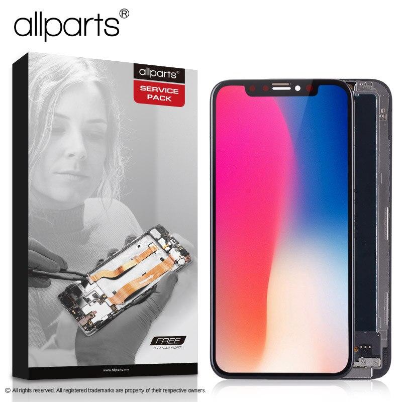 5,8 дюймов реального AMOLED Дисплей для iPhone X ЖК-дисплей Сенсорный экран Ассамблея с заменой Рамка для iPhone X ЖК-дисплей Дисплей модуль