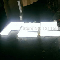 Factroy Acrylic LED Letters Sign Whole Lit Advertising Signs Light Box For Shop
