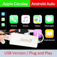 Carlinkit USB enlace inteligente Apple CarPlay Dongle para Android navegación jugador Mini USB Carplay Stick con Android Auto