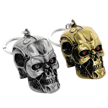 Skull Shape Keychain Metal Auto Accessory Cool  Decors Bronze/Silver Universal Gift Car Keyring Key Ring Car Accessories