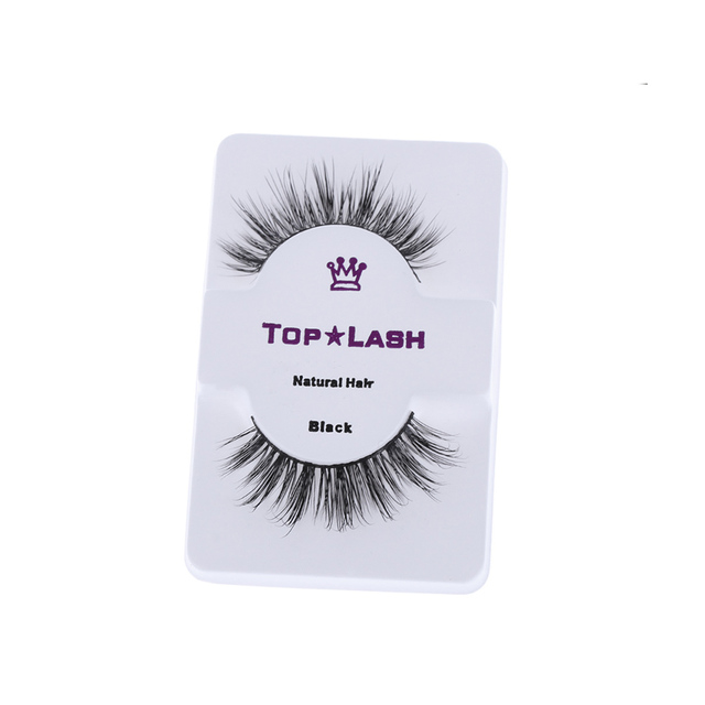 1 Pair Fashion Natural Women 100% Real Mink Black Handmade Cross Long Thick False Fake Eyelashes Eye Lashes Makeup Extension False Eyelashes