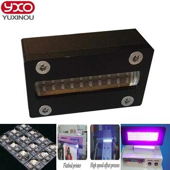 1 шт. 80 Вт Светодиодный УФ модуль головки принтера 395nm для epson головка dx5 принтер трафаретная печатная машина, УФ планшетный принтер, УФ клей о...