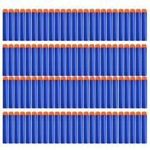 Мягкие пули Nerfe 100/50 шт, пустотелая головка 7,2 см, запасная игрушка дартс, пули для оружия Nerf серии бластеров, рождественский подарок для детей