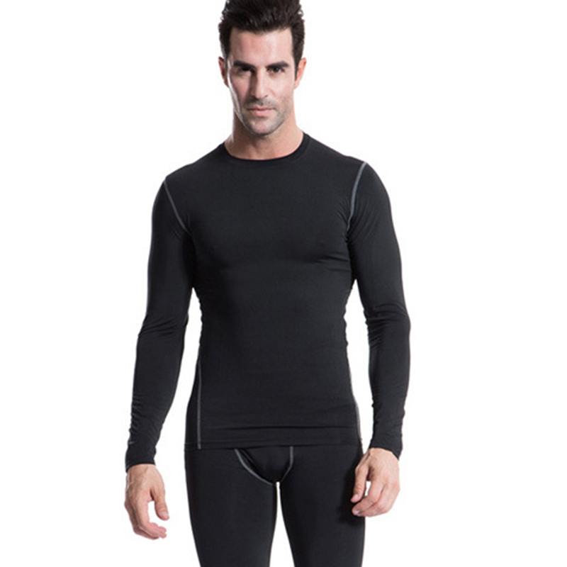Size s xxl mens boys compression body base layer thermal for Xxl long sleeve t shirts