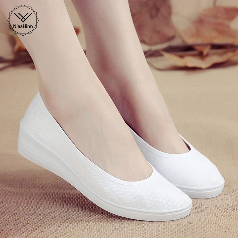 New Pattern Spring Summer Small White Nurse Shoes Ventilation High Quality Non-slip Soft And Comfortable Women Casual Shoes