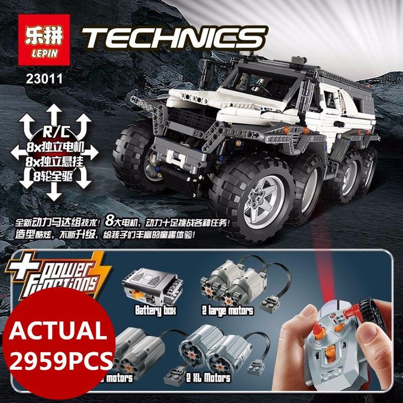 LEPIN 23011B Technic Series 2959 piezas vehículo todoterreno Model Building Kits Block ladrillos educativos Navidad juguetes regalos de cumpleaños